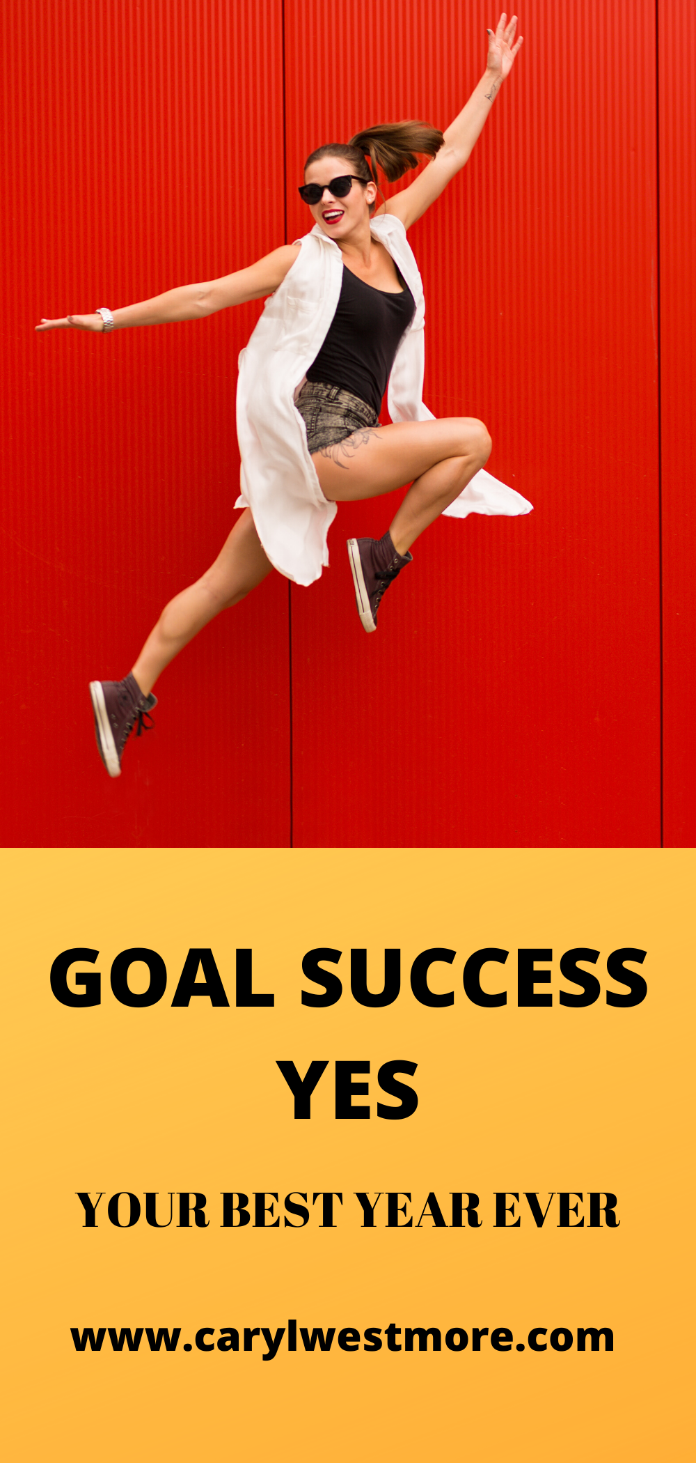 GOAL SUCCESS JUMPING FOR JOY