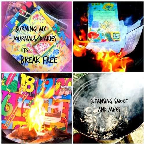 Burning my Journals/Diaries to Break Free